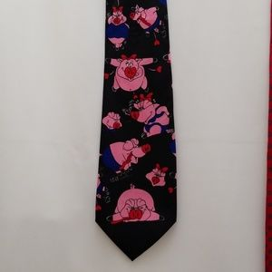 Pigs and Hearts Neck Tie by Addiction